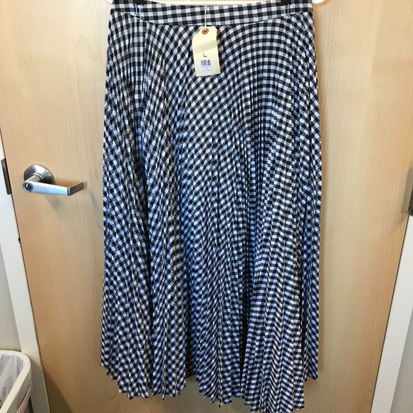 Skylar + Madison Dresses & Skirts - Gingham Pleated Skirt